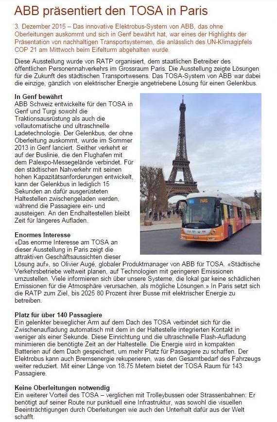 TOSA in Paris ABB