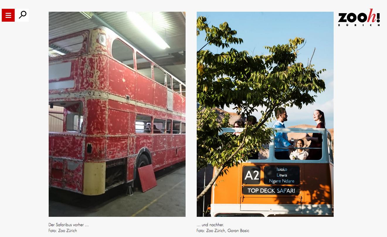 routemaster bus zurich zoo