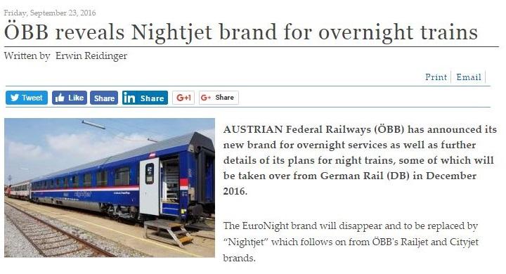 OeBB introduces Railjet night trains