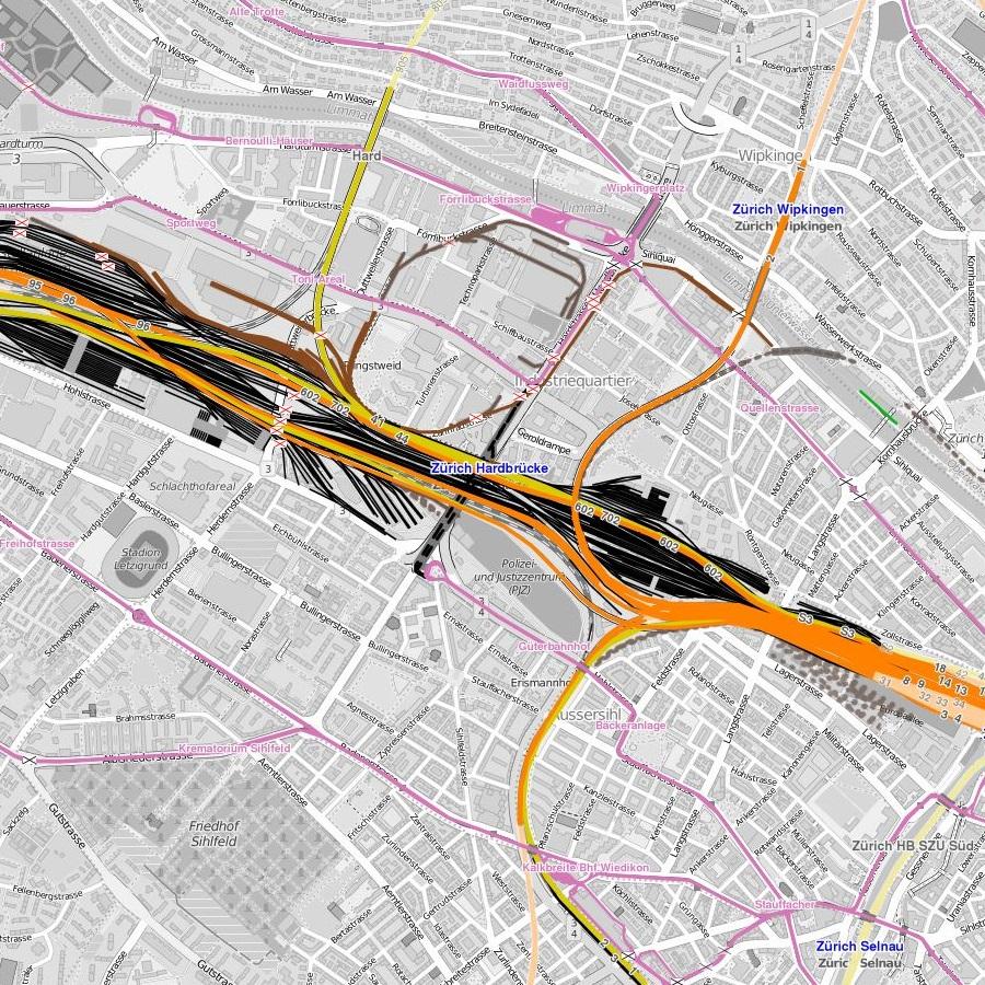 open railway map