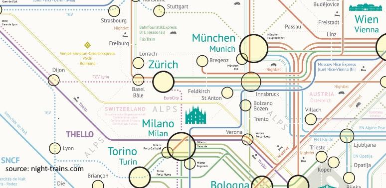 night trains world map