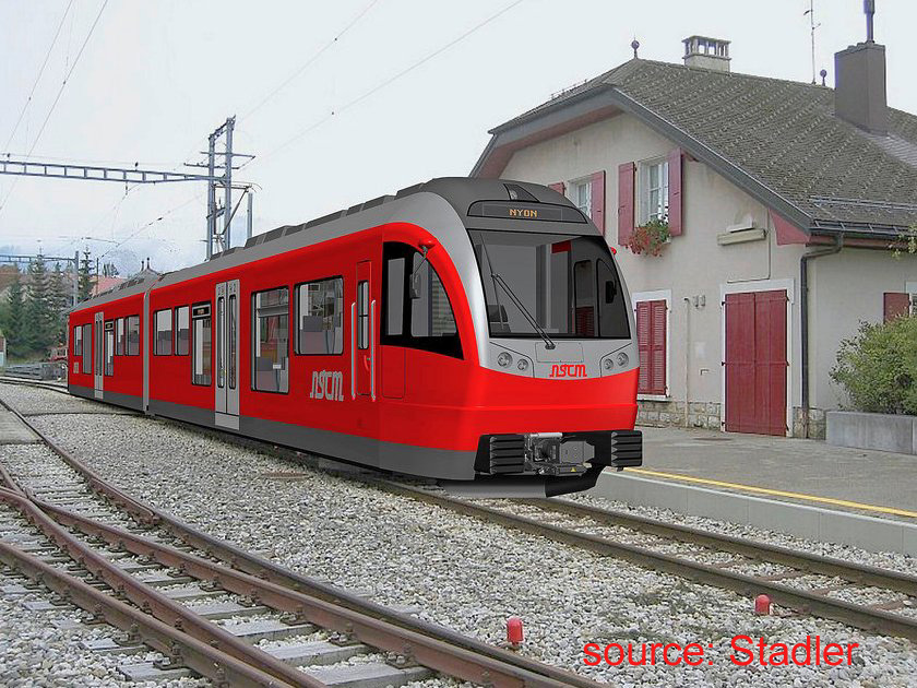 NStCM new Stadler train impression