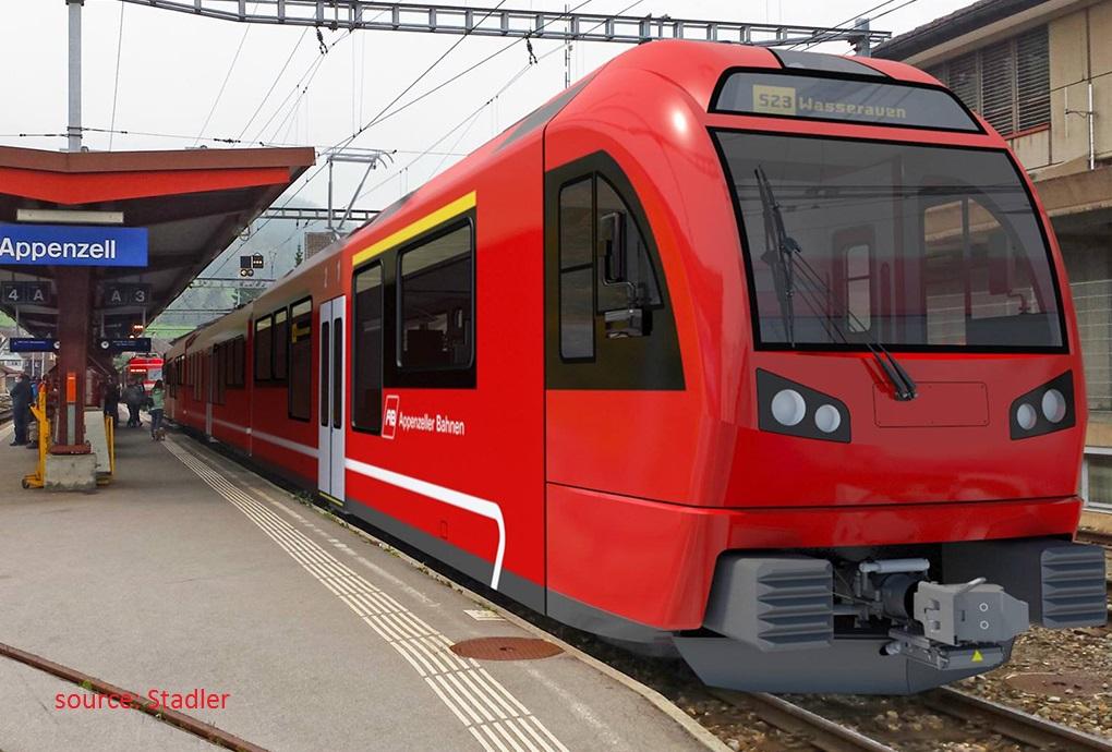 new Stadler trains for Appenezellerbahn