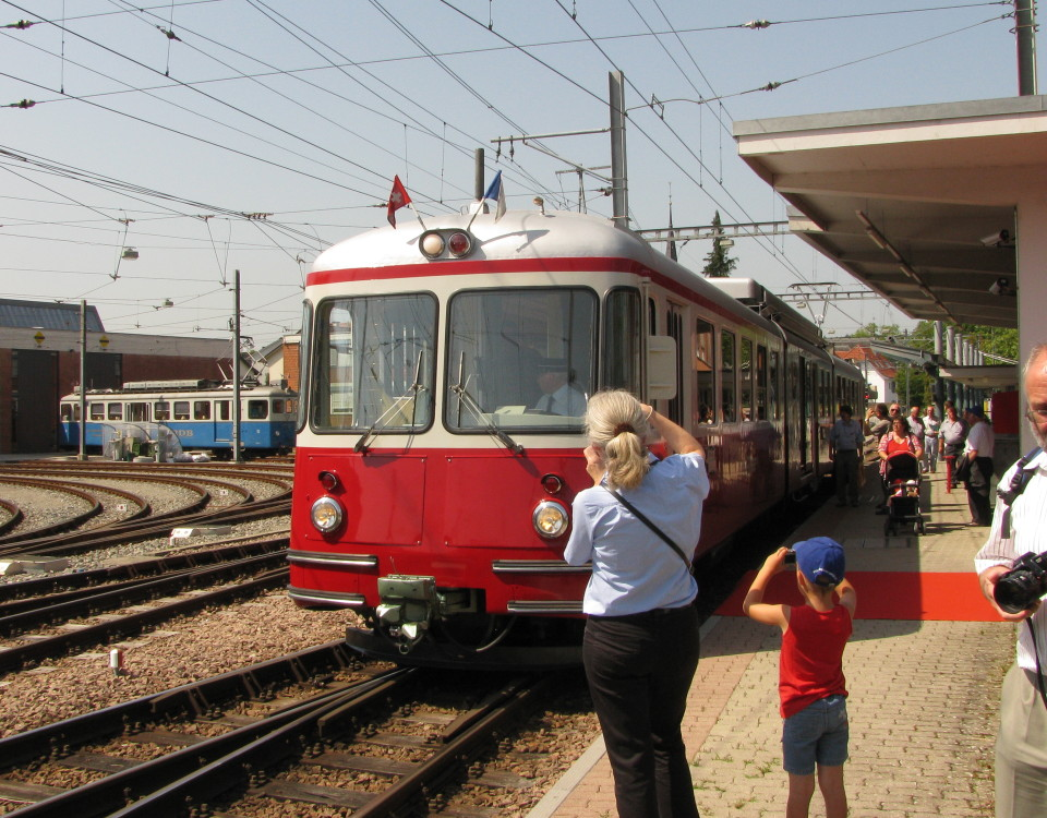 BDe 8/8 number 7 at Bremgarten