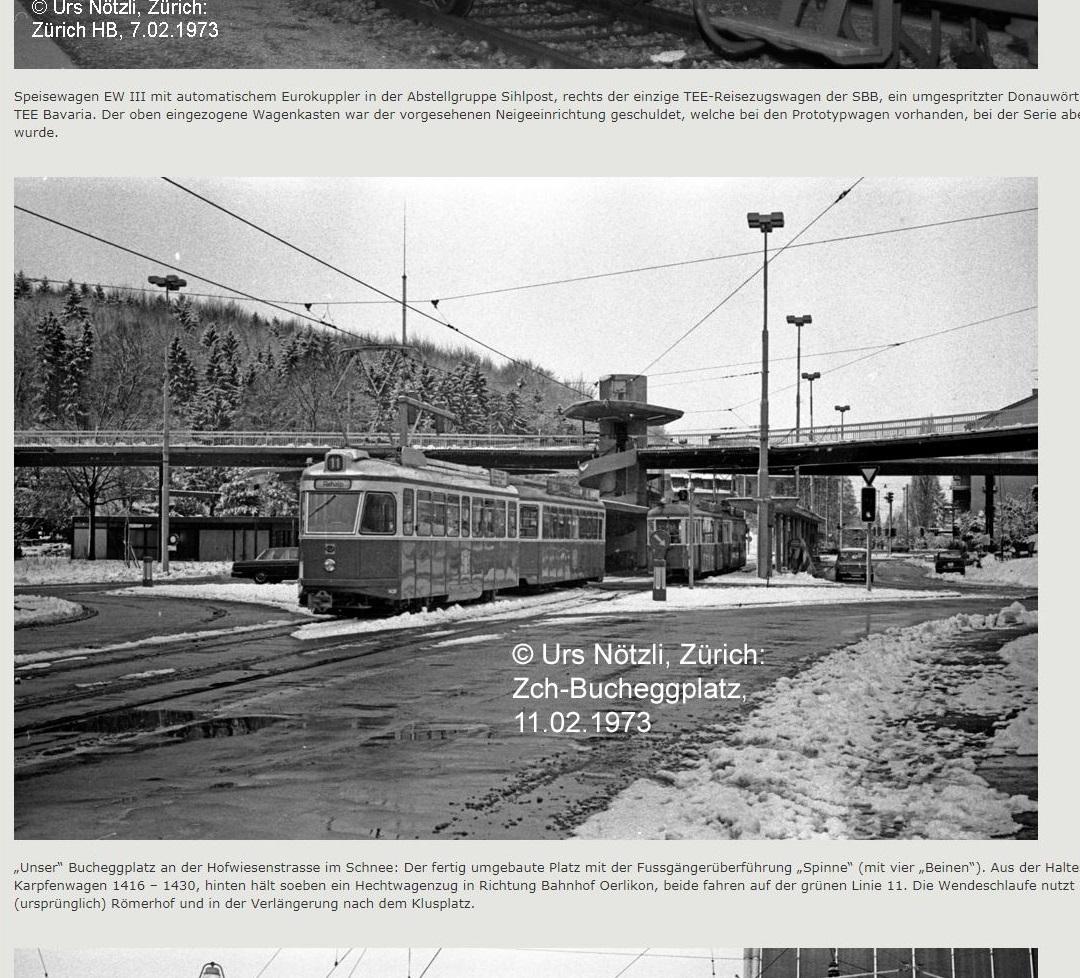 Drehscheibe Online 1973 photo Bucheggplatz