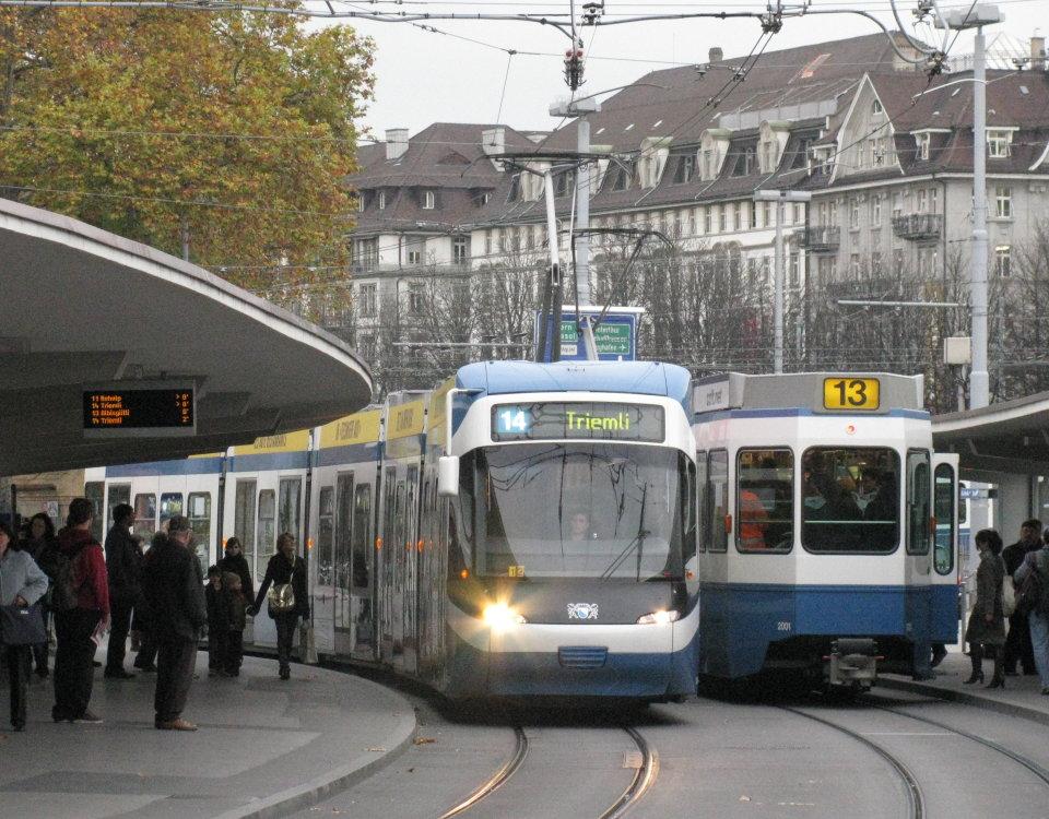 Cobra tram on Bahnhofquai