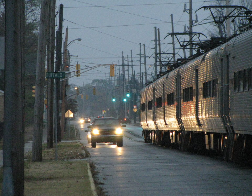 South Shore Line Michigan City street running