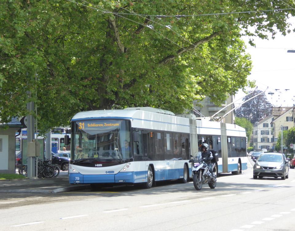 Trolleybus Kunsthaus Heimplatz