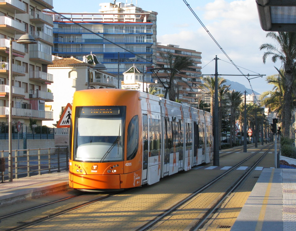 Alicante tram Muchavista beach El Campello