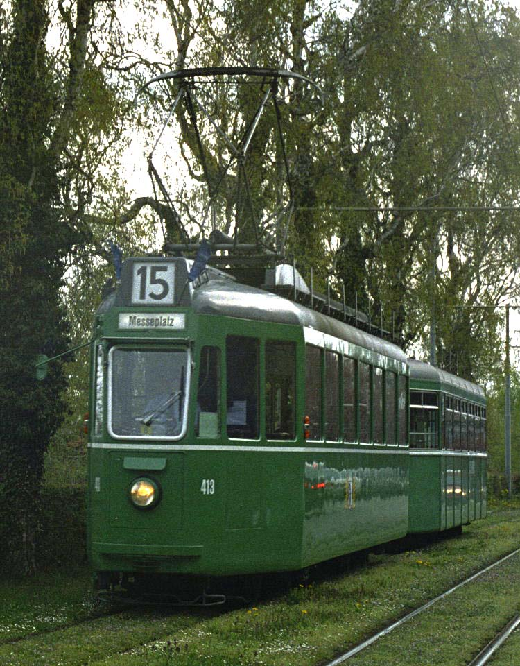 Swiss standard tram Bruderholz