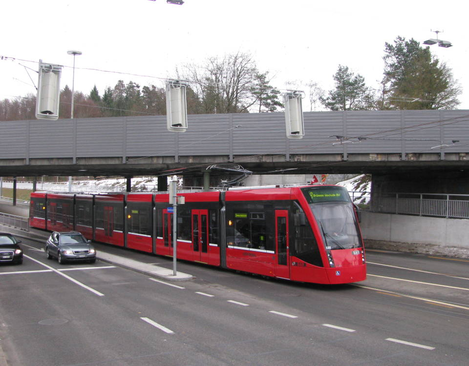 Tram Bern West at Buemplitz Unterfuehrung