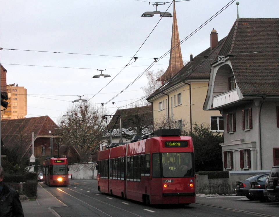 Tram Bern West in Buemplitz