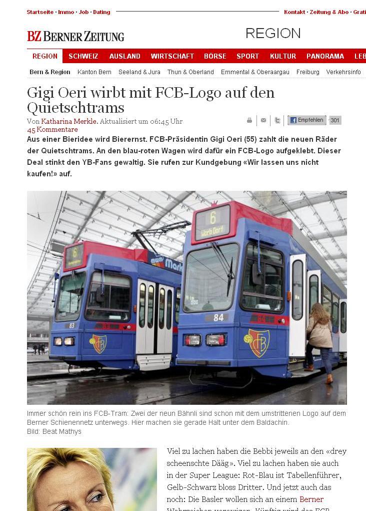 FCB tram Bern