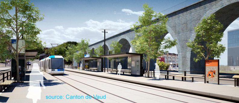 Lausanne tram