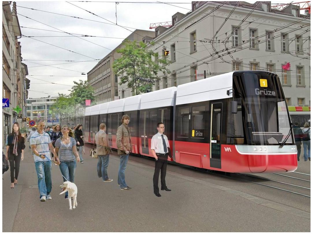 Winterthur tram mockup