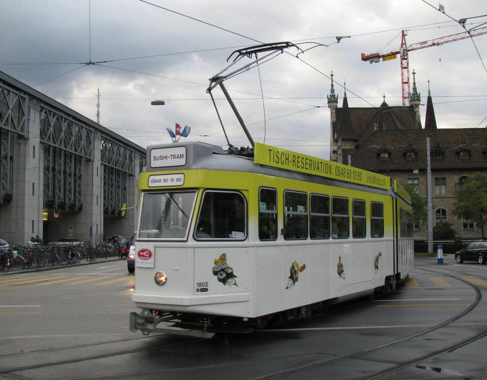 zurich restaurant tram 1802