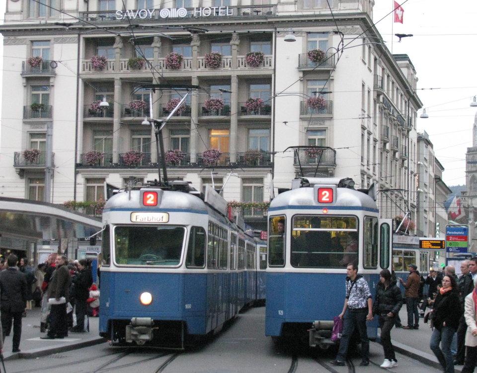 Mirage tram Paradeplatz