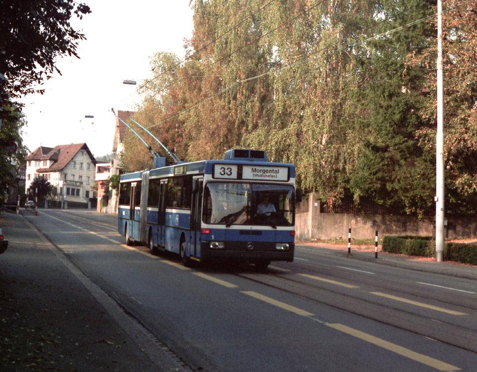 O405 GTZ trolleybus prototype Kirche Fluntern