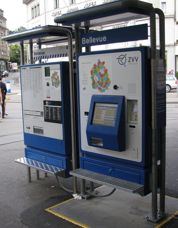 ZVV ticket machine
