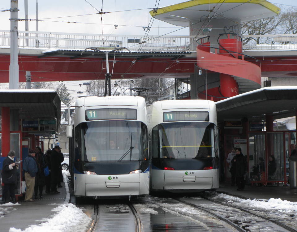 Cobra trams Bucheggplatz