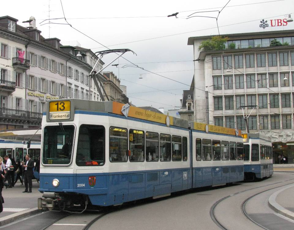 named Tram 2000 paradeplatz