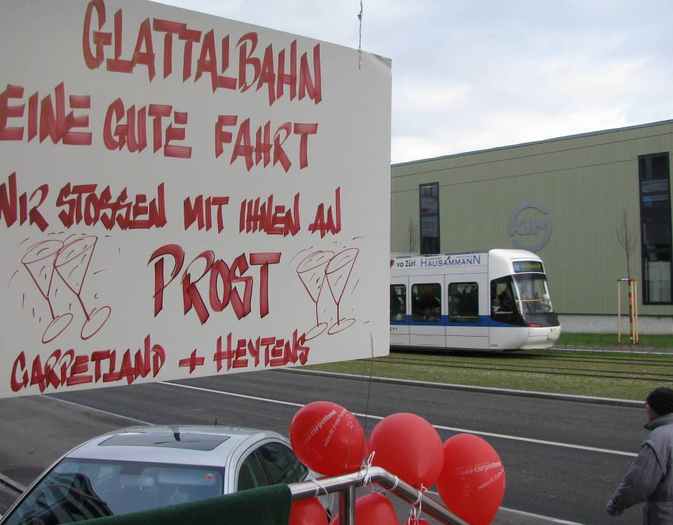 Glattalbahn opening Carpetland + Heytens