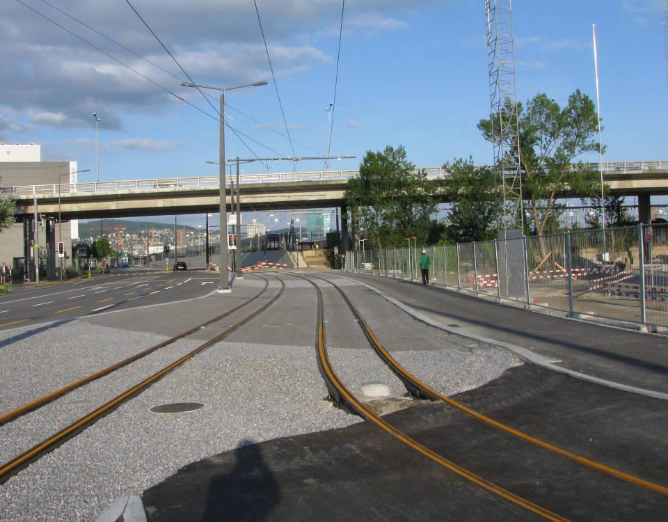 tram track on Aargauerstrasse