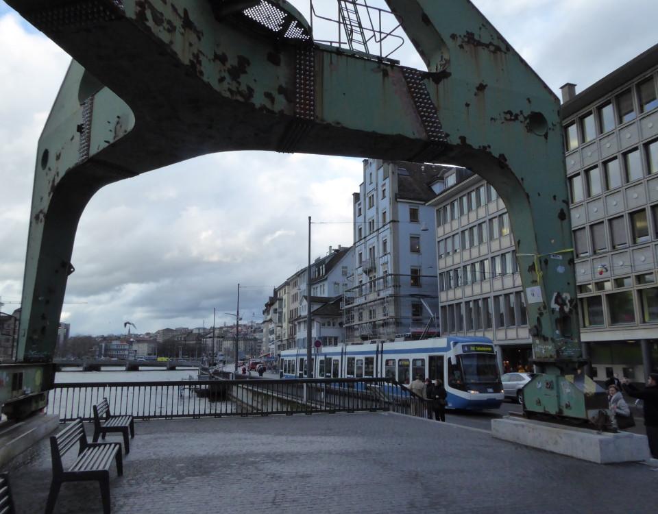 Zurich Hafenkran dock crane Limmatquai