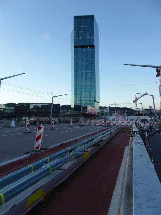 construction tram hardbruecke