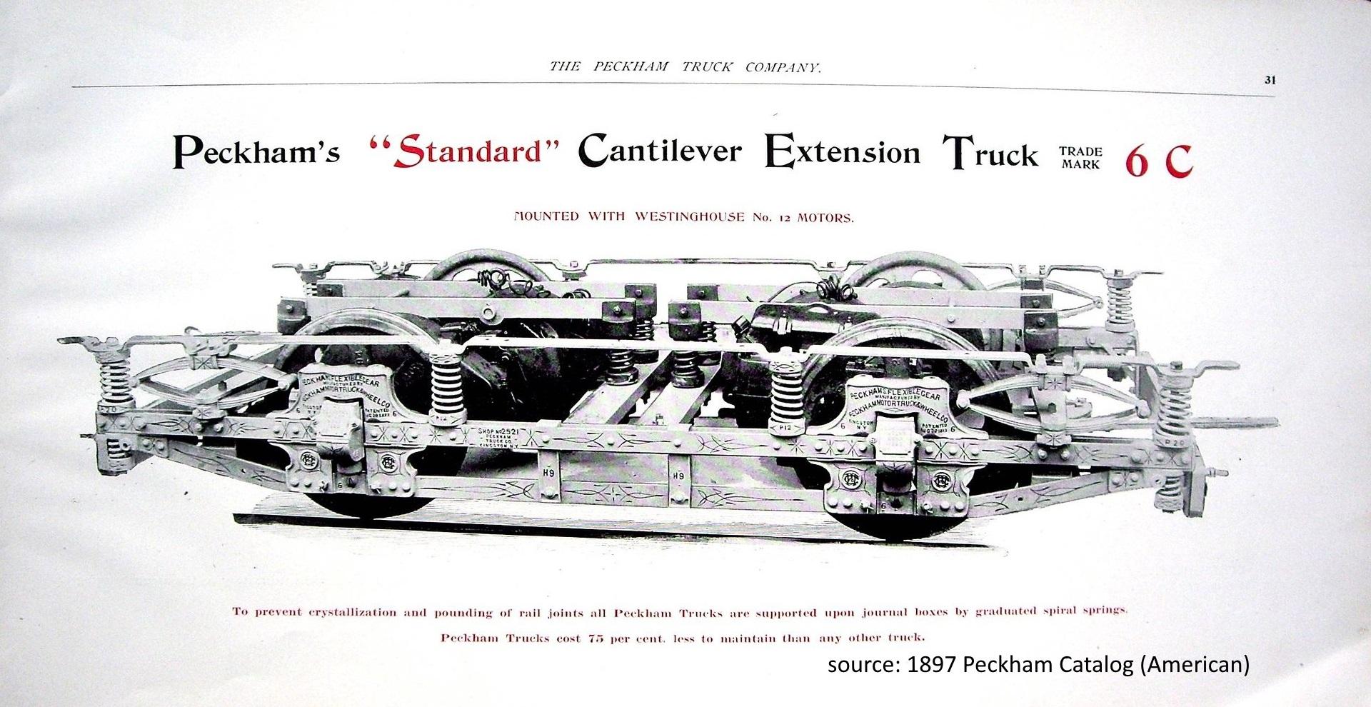 Peckham cantilever truck