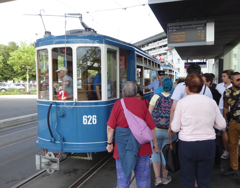 opening of new tram line in schlieren