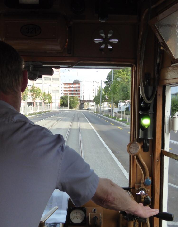 drivers eye view of new tram line in schlieren