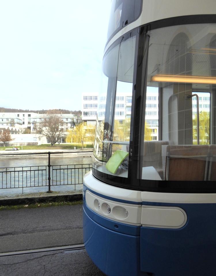 Flexity tram by Limmat