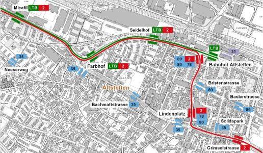 Tram plans Altstetten