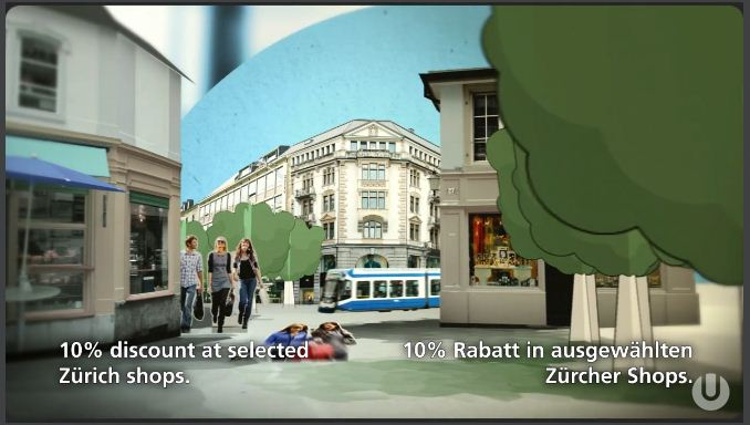 Tram and shopping in Zuerich