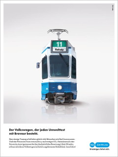 Volkswagen scandal and VBZ tram