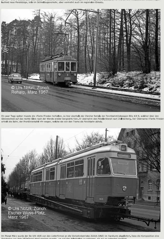Mirage tram in hardturmstrasse and old forchbahn
