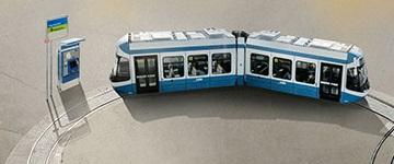 two section conbra tram hardbruecke