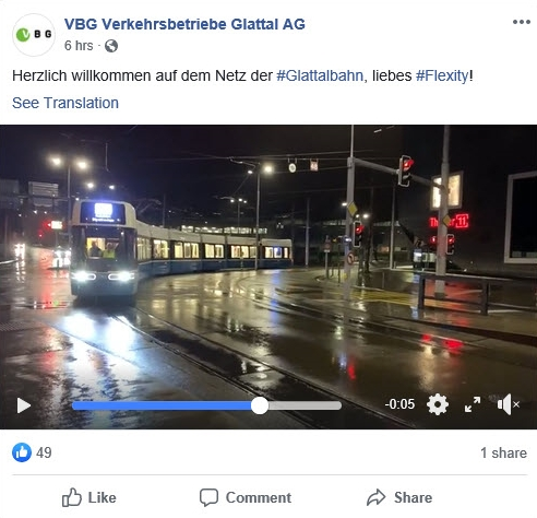 VBG facebook welcomes flexity