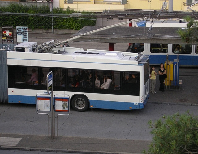 Trolleybus and tram Bucheggplatz