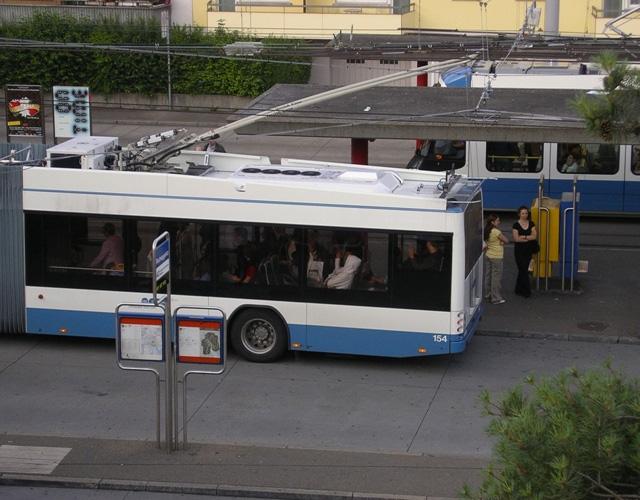 Trolleybus and tram Bucheggplatz