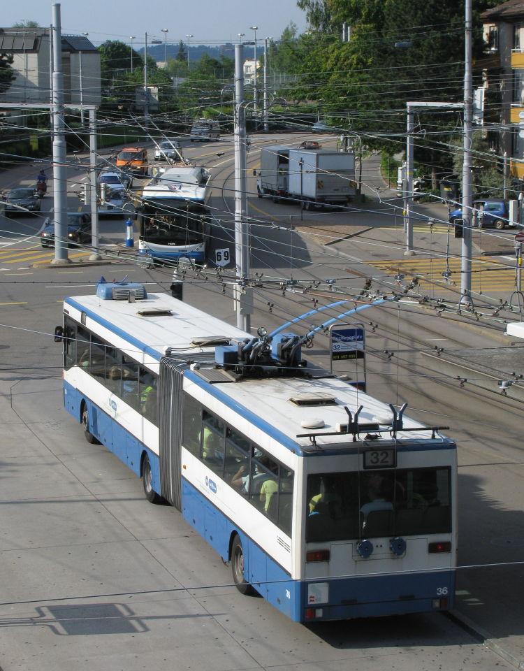 Trolleybus Bucheggplatz