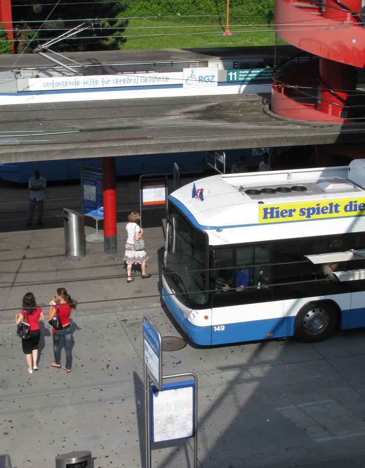 Bucheggplatz trolleybus Zurich