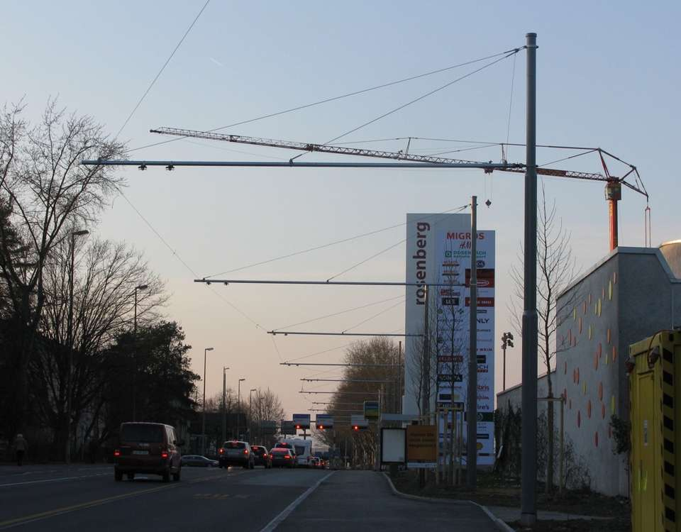 winterthur rosenberg trolleybus extension wires