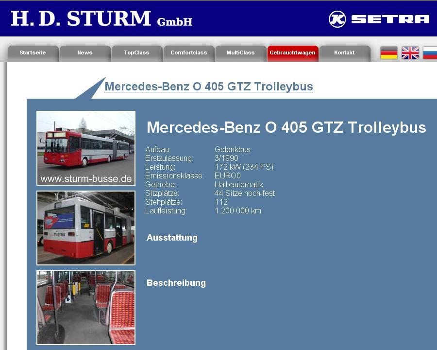H.D. Sturm selling Winterthur GTZ