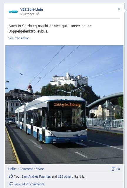 VBZ 78 in Salzburg Facebook