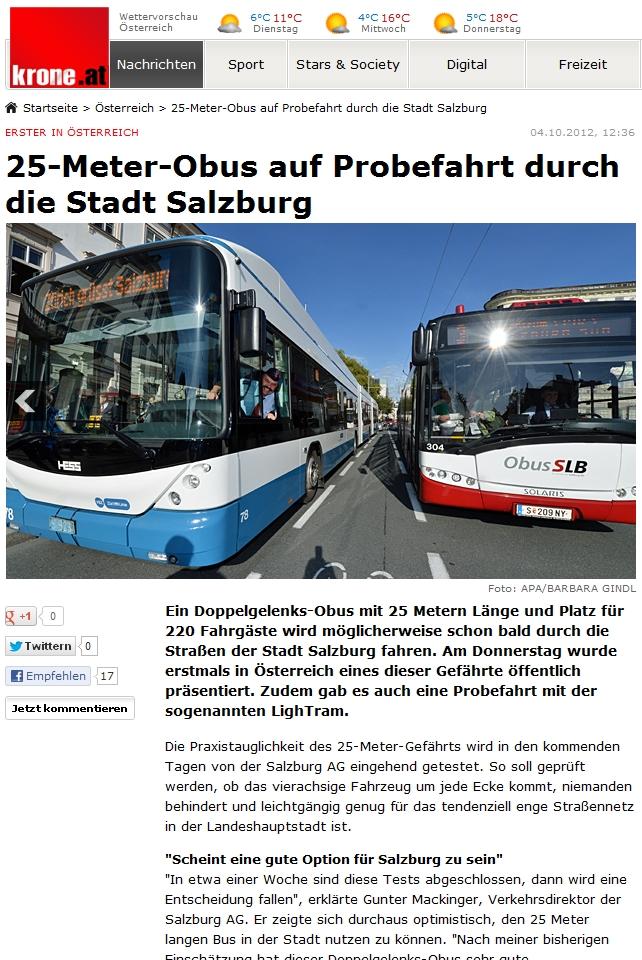 VBZ 78 in Salzburg Krone.at
