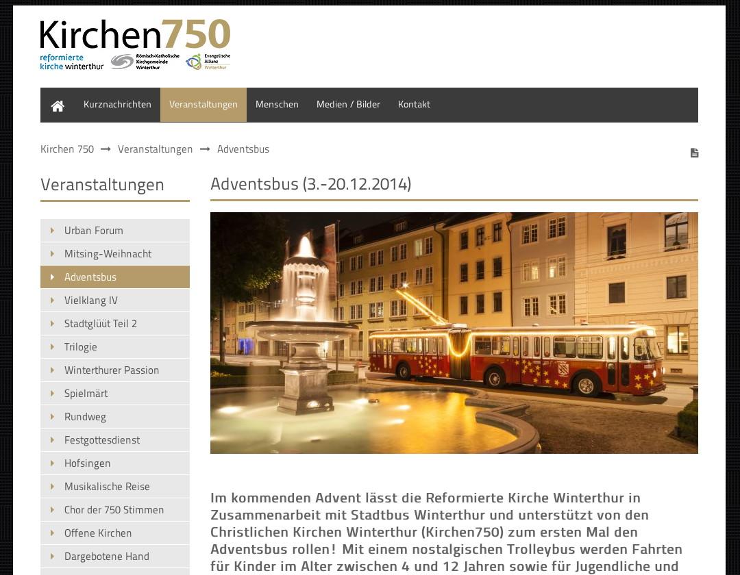 Winterthur GTr51 Kirchen750 Adventsbus