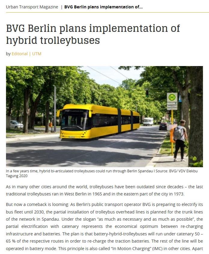 UTP trolleybus berlin article